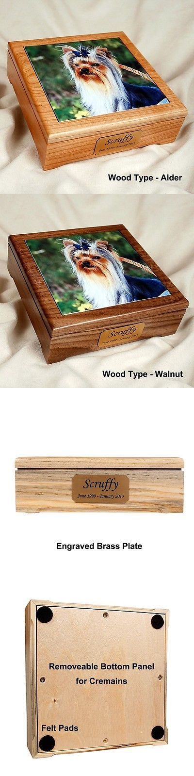 Pet Memorials and Urns 116391: Pet Cremation Urn With A Photo Tile Insert BUY IT NOW ONLY: $38.95
