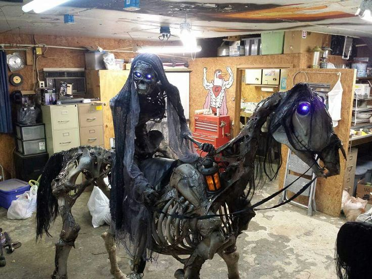 Halloween horse and rider