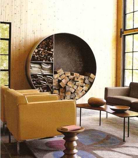 actually creative firewood storage, rustic and moder | IKEA Decoration