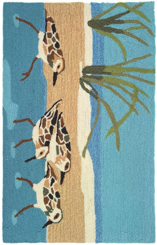 homefires barb sandpipers rug blue accessories