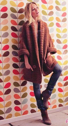 Letras e Artes da Lalá: casaco de crochê