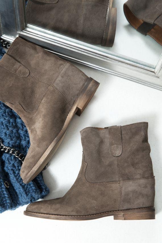 8a940634 Botki Zamszowe Skóra Mokka | Moda w 2019 | Chelsea boots, Boots i Shoes