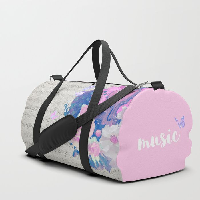Violin and Notes Design Sports Bag