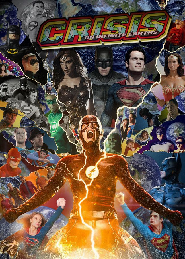 Cool CRISIS ON INFINITE EARTHS Poster is The Ultimate Live Action DC Universe Crossover — GeekTyrant