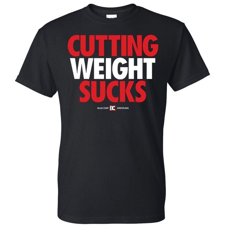 Cutting Weight Sucks v2 Wrestling T-Shirt-size small