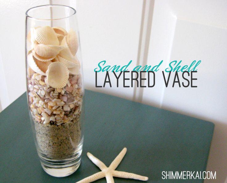Simple Layered Vase #beachdecor #nautical #diy