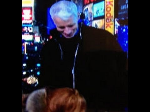 Kathy Griffin Kisses Anderson Cooper's Crotch on Live TV - 12/31/12  - Too funny, way to go CNN ;-)