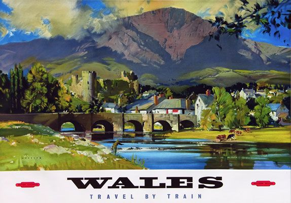 TT98 Vintage Wales By Train Railway Travel Poster Re-Print A3 A2 ...