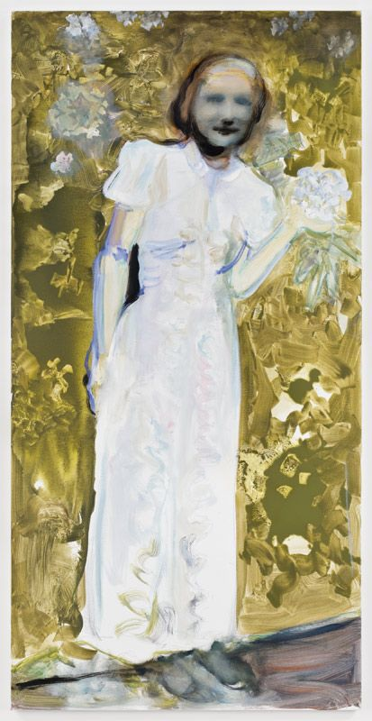 Marlene Dumas (b. 1953) My moeder voor sy my moeder was (My mother before she became my mother) oil on canvas 78¾ x 39 3/8 in. (200 x 100 cm.)