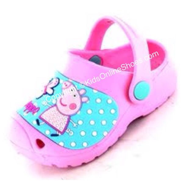 Pretty PINK Peppa Clogs 100% OFFICIAL MERCHANDISE at KidsOnlineShoes.com