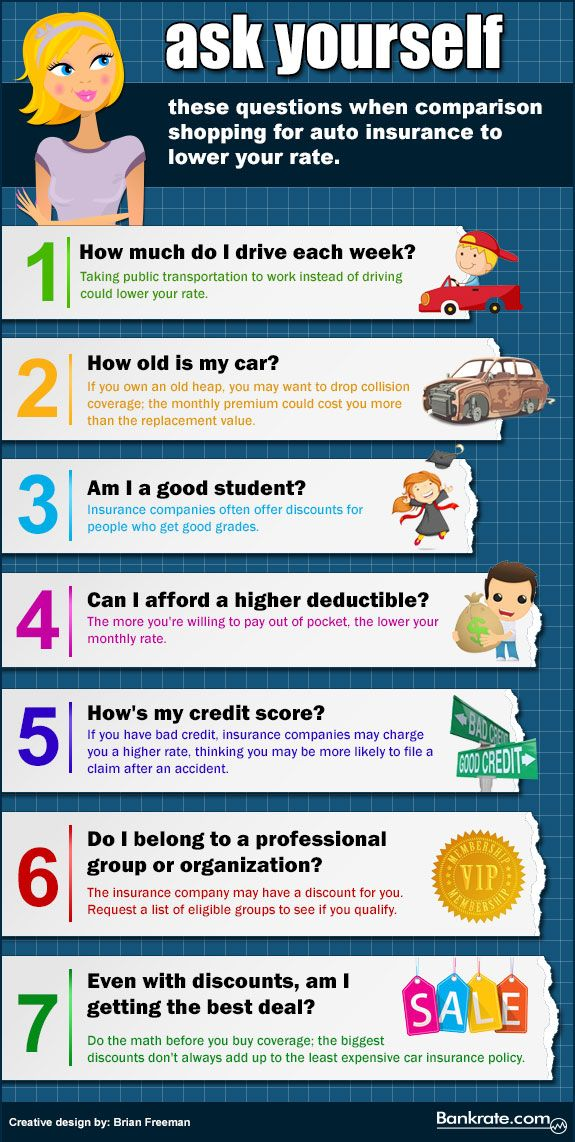 Questions to ask when comparing car insurance. Check out Freeway Insurance for auto quotes - http://www.linkedin.com/company/freeway-insurance