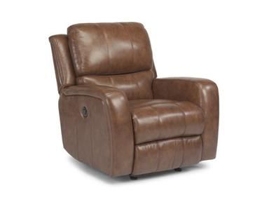 Flexsteel Living Room Leather Power Gliding Recliner At Blockers Furniture  At Blockers Furniture In Ocala, FL