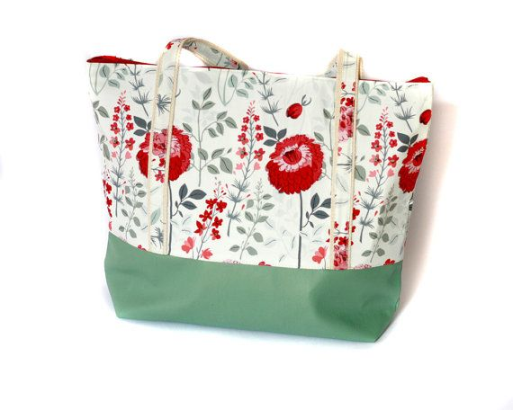 Best Diaper Bags for moms, mint green and floral tote bag, mothers bag, trendy diaper bags #clutch #etsyretwt