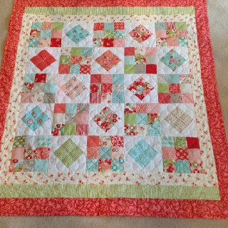 """Moda charm pack quilt . 38"""" by 40"""""""