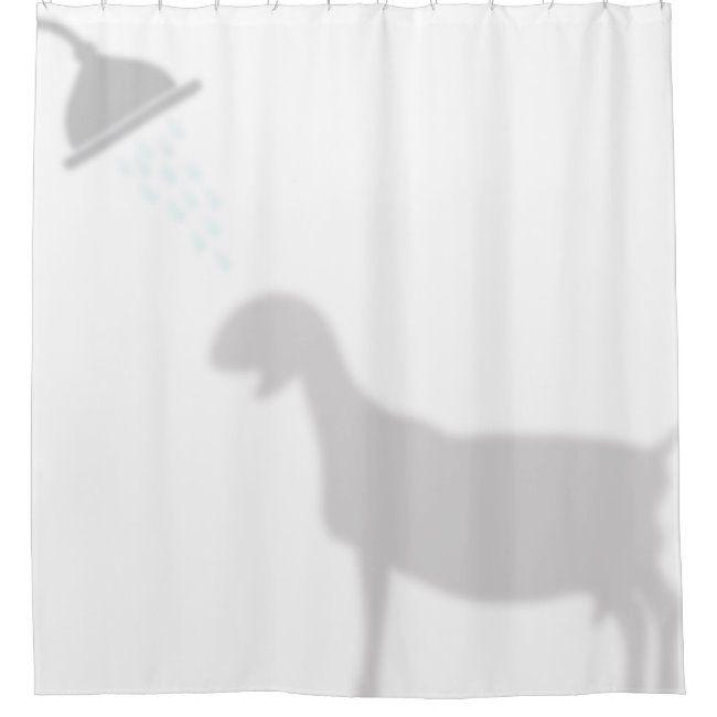 Nubian Goat Shadow Silhouette Shadow Buddies Shower Curtain Zazzle Com In 2020 Funny Shower Curtains Custom Shower Curtains Shadow Silhouette