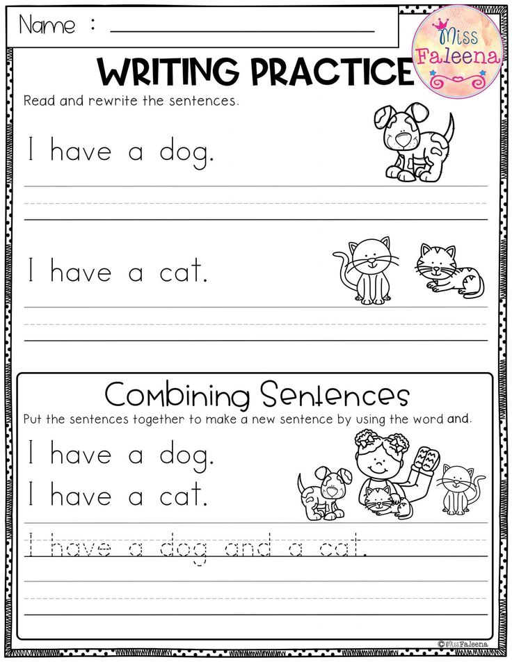 free printable printable writing kindergarten worksheets ...