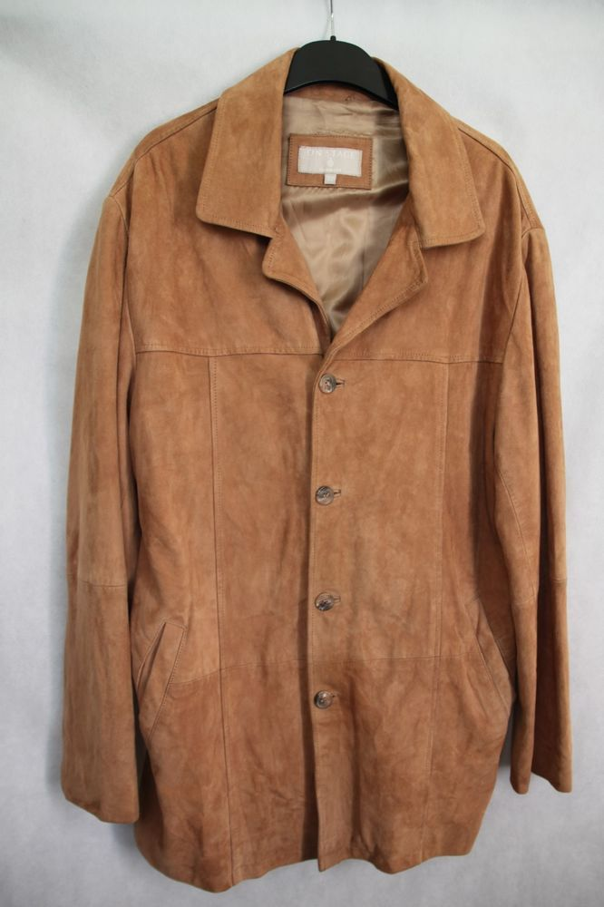 430869a18d59c Mens ON STAGE DENMARK Real Soft Suede Leather Long Jacket Brown sz EUR 52  UK 42 #Engbers #OtherJackets
