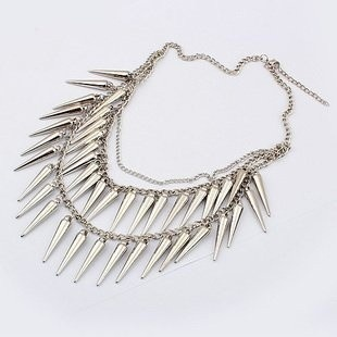 Spike ketting/necklace zilver