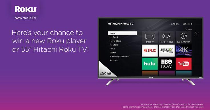 Enter to win a new @Rokuplayer & a 4K @Hitachi_US