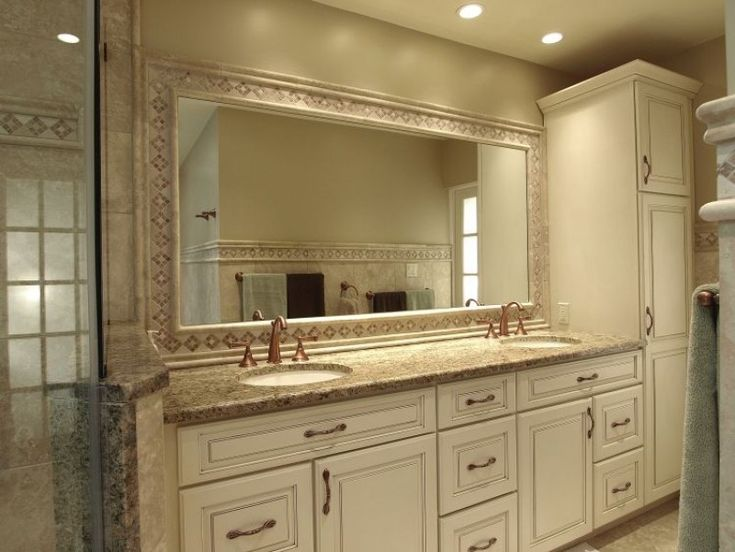 His And Hers Sinks And Tall Linen Cabinet Offer Each Of