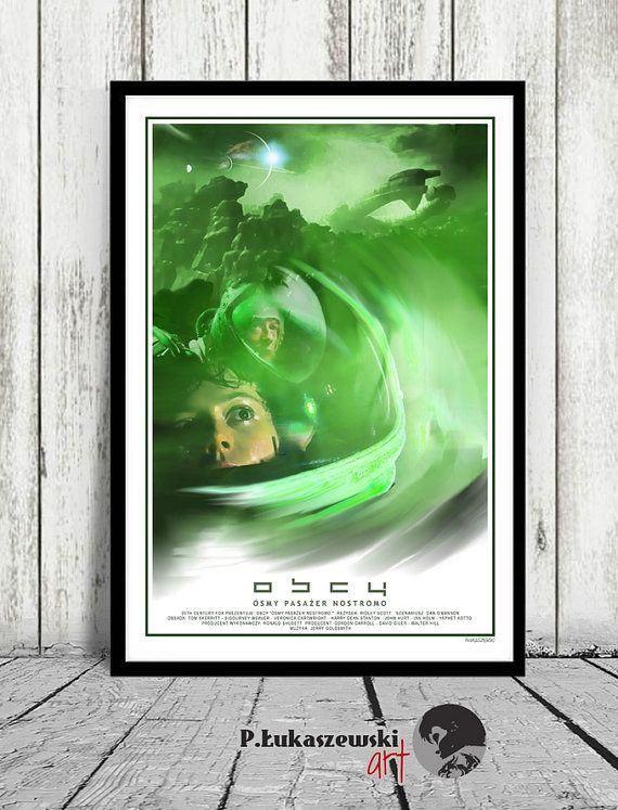 ALIEN  Ridley Scott  movie poster / print  by PLukaszewskiArt