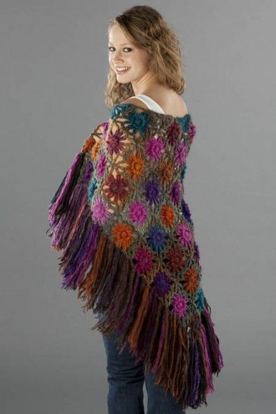 Flower loom Crochet Shawl  http://www.universalyarn.com/page.php?page=283