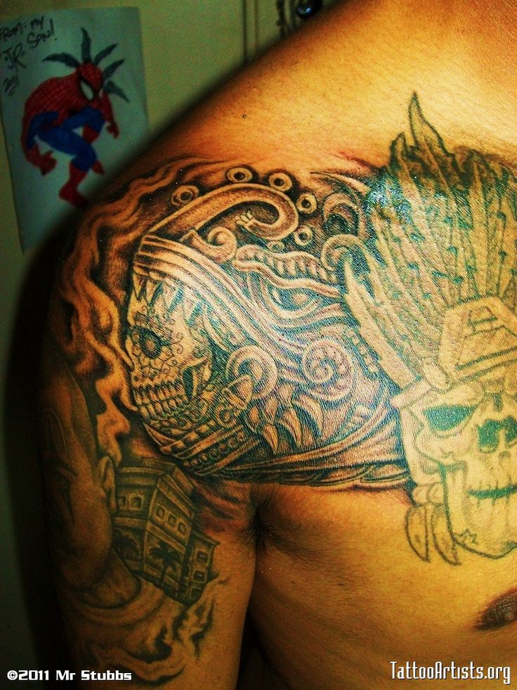 28 best Aztec Chest Tattoo Designs images on Pinterest ...