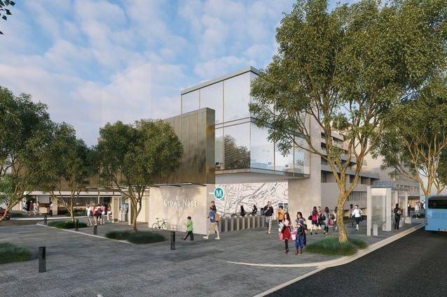 Proposed Sydney Metro station at Crows Nest to be designed by Foster and Partners and Architectus