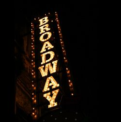 Go to New York and see a broadway show