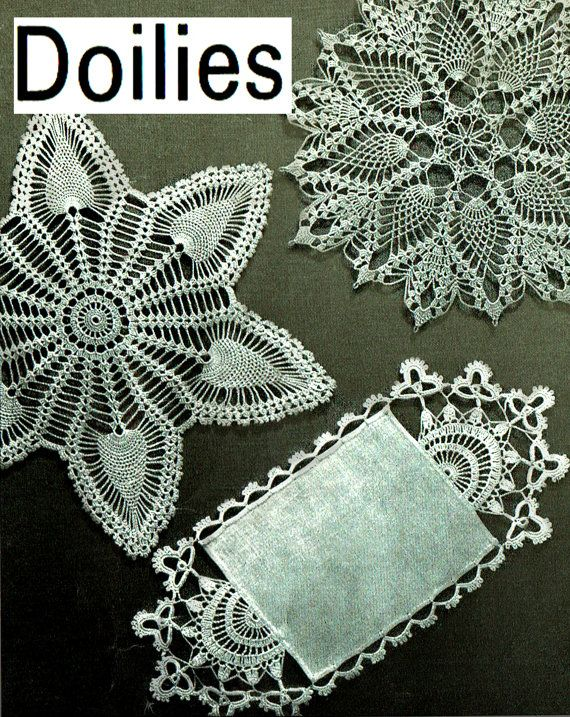 PDF Vintage 1960s Doily Crochet Pattern COATS Irish Pineapple