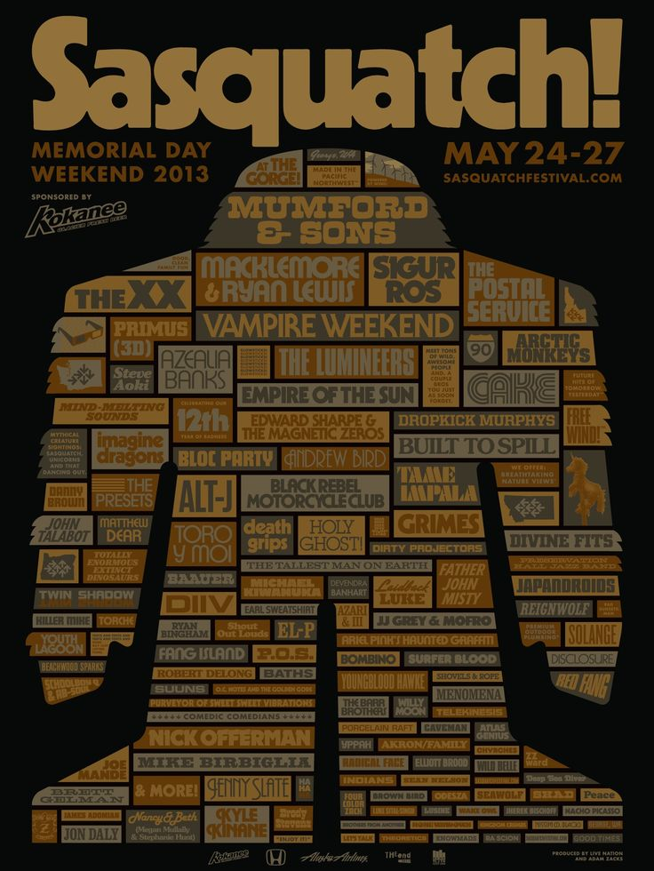 Sasquatch 2013 lineup just announced... PLEEEEEEASE don't have to work that weekend, please don't have to work that weekend...