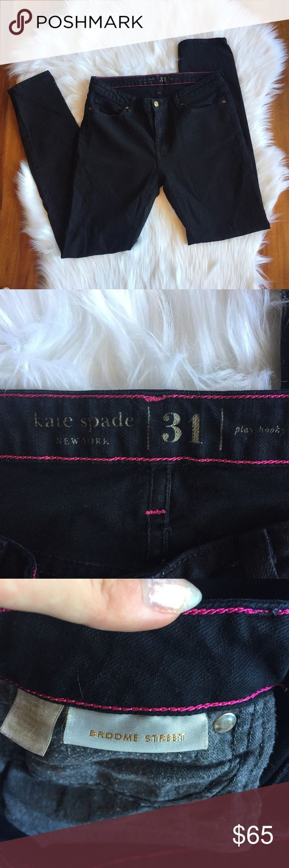 Kate Spade Broome Street Black Skinny Jeans Excellent pre worn condition. So cute and perfect for the upcoming fall season. All sales final.   🌟No Returns If Item Doesn't Fit - Please Ask For Measurements Instead (Per Posh Rules)  🌟 No Trades 🌟 I Do Not Model kate spade Jeans Skinny