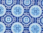 Moda Deb Strain Spa Istanbul Tiles Cobalt Blue   On Hancocks of Paducah