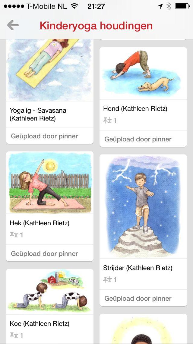 Bord met yoga houdingen voor kinderen  http://pinterest.com/pin/527343437591381081/