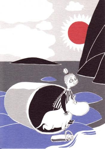 Love all the moomin-characters:) Here it is Little My and Moomin.