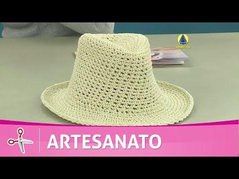 Vida com Arte | Chapéu de crochê endurecido por Carmem Freire - 29 de Julho de 2016 - YouTube