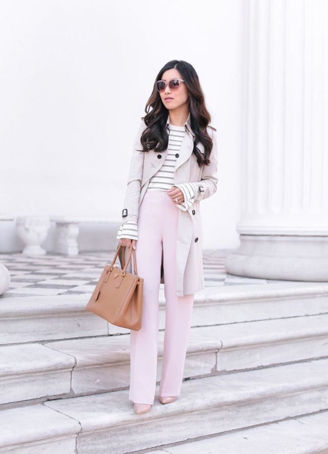 Sunglasses+Crepe pants sz 0P (waist altered)c/o Talbots, Manolo BB heels sz 35Burberry trench (current option), Ann Taylor sweater xxsp c/o (regular), Prada bag How are pants always such a challeng
