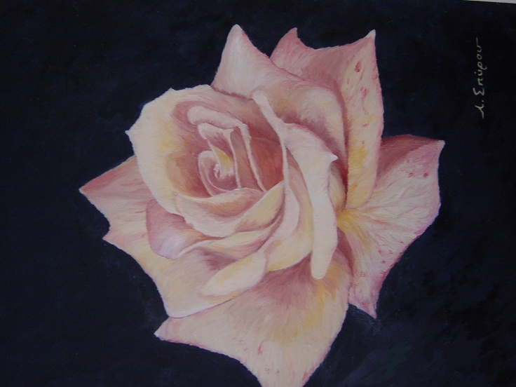 Just a lonely rose on my canvas...
