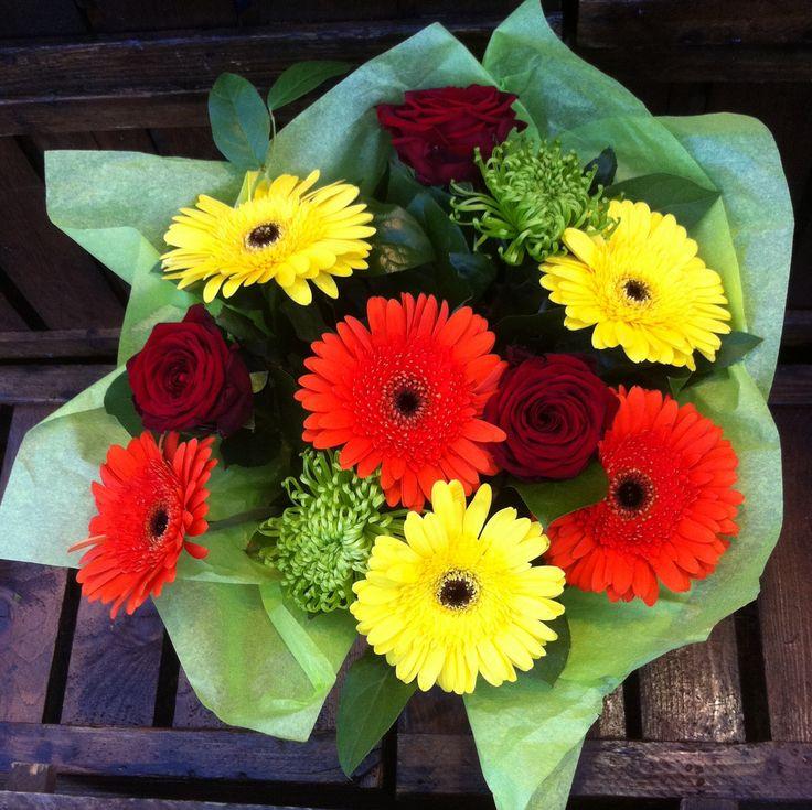 Orange yellow red bouquet