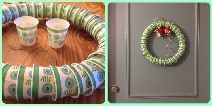 Wreath with paper cup