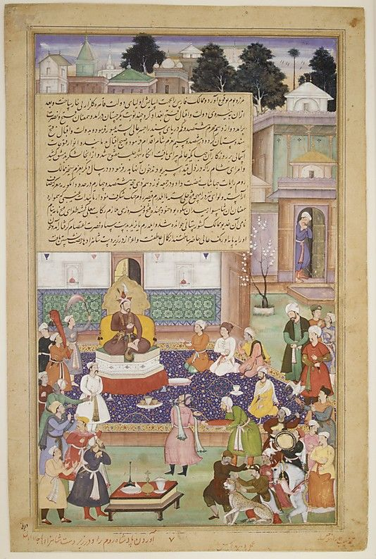 "vvv The Metropolitan Museum of Art - ""Sultan Bayazid before Timur"", Folio from an Akbarnama (History of Akbar)"