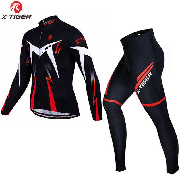 X-Tiger 2017 New Winter Thermal Fleece Cycling Clothing Set Maillot Ropa Ciclismo Invierno MTB Bicycle Jerseys Bike Sportswear
