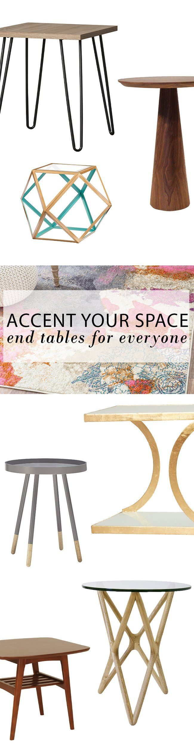 Accent your space with a little something that makes a big difference. Casual, elegant, or striking and always functional these end tables will make any space uniquely yours. Visit AllModern today and sign up for exclusive access to deals for your modern home. Free shipping on orders over $49!