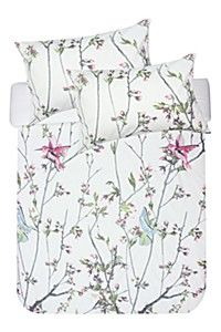 PRINT AND EMBROIDERED BOTANICAL DUVET COVER SET