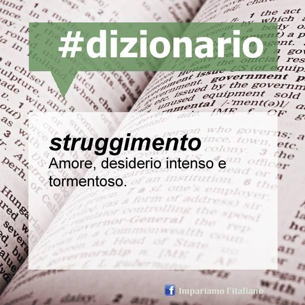 La parola del giorno è 'struggimento' ‹strug·gi·mén·to› s.m.
