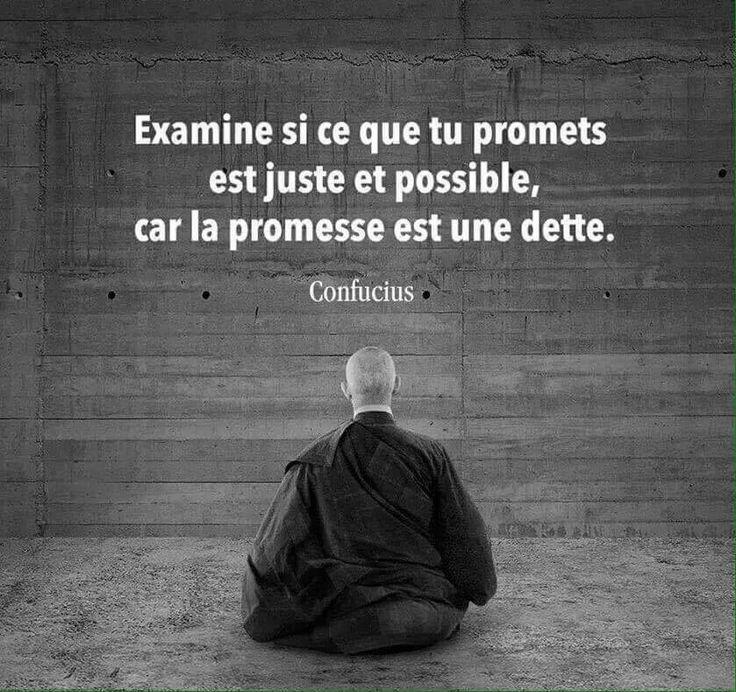 La promesse est une dette...                                                                                                                                                                                 Plus