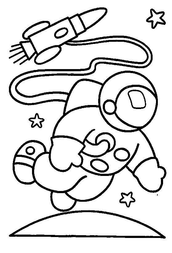 Dibujos para pintar para niños Espacio 6 | Cartoons | Space