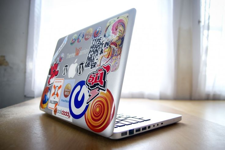 Free Hires Technology: Macbook with Stickers | HiResStock