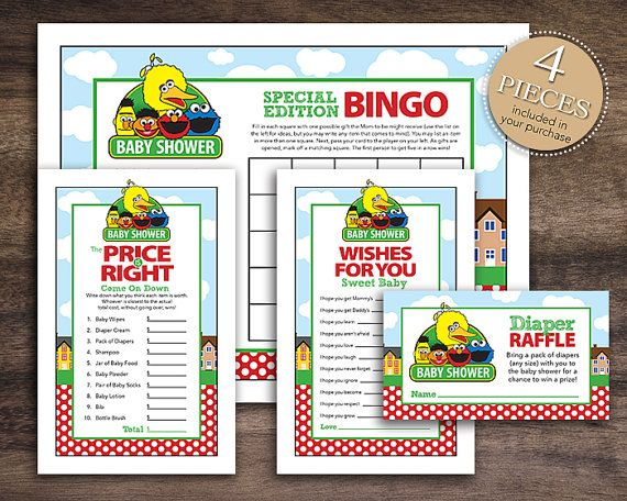 Instant Download Sesame Street Baby Shower By Studio20Designs, $4.75
