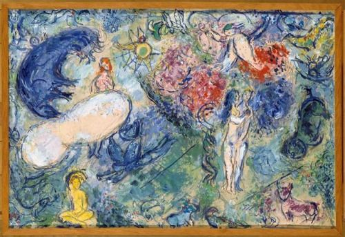 russian-avantgarde-art: Paradise via Marc ChagallSize: 49x72.8...